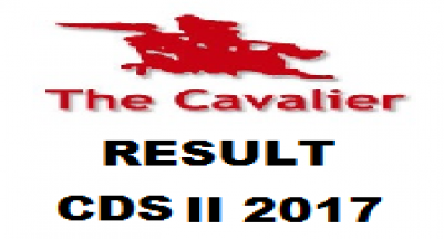 CDS II 2017 EXAM RESULT
