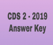 CDS 2- 2019-  Maths Answer Key